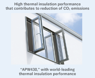 High thermal insulation performance that contributes to reduction of CO2 emissions