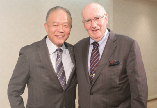 Professor Philip Kotler and Chairman & CEO Tadahiro Yoshida